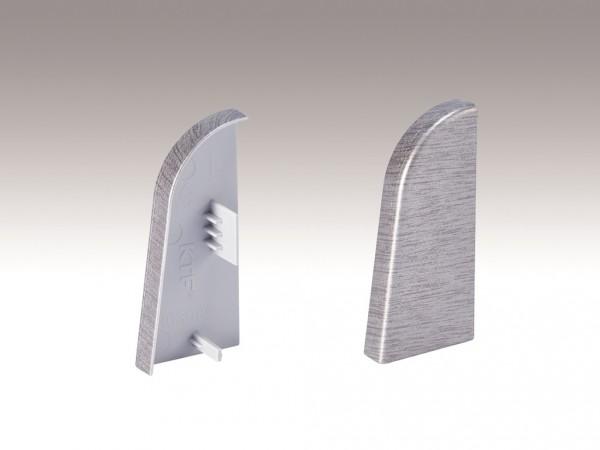 Endkappe für Sockelleiste Profil 2PK, Edelstahloptik