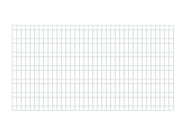 Sichtschutzzaun SYSTEM Stabgitter Silber