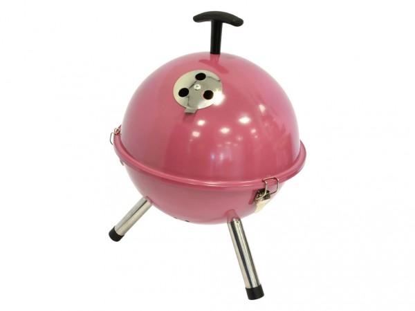 Holzkohlegrill Kugelgrill Tischmodell soft pink