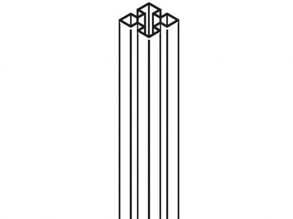 Pfosten 9 x 9 Aluminium