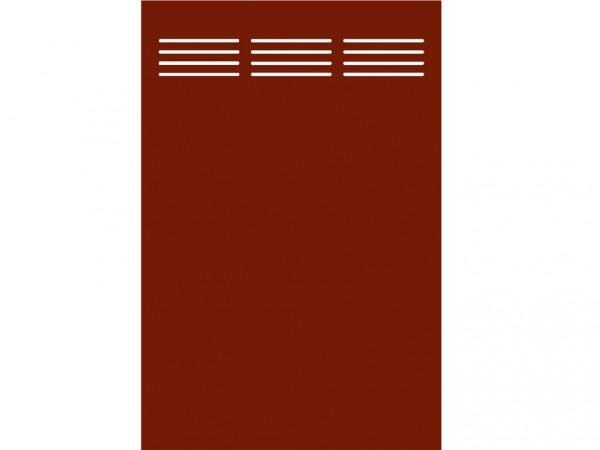 "Sichtschutzelement Slot-Design ""BOARD"" rot"