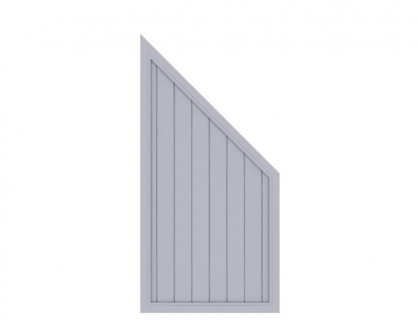 """Sichtschutzzaun """"LONGLIFE RIVA"""" Abschlusselement grau"""