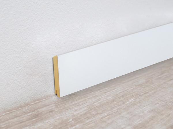 Sockelleiste Vierkant weiß streichfähig Profil 5913