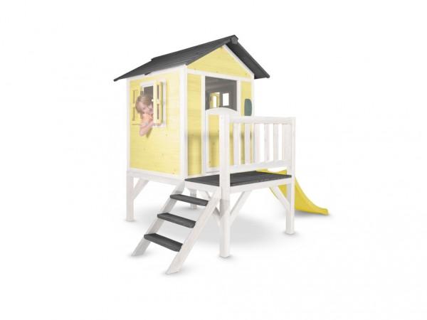 """Kinderspielhaus """"Lodge XL"""" gelb/weiß, Massivholz"""