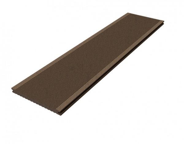 """Terrassendiele WPC """"Barfußdiele CLASSIC PLUS (Jumbo)"""" lavabraun"""
