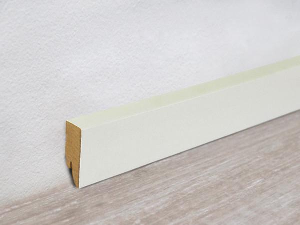 Vierkant Sockelleiste Weiß streichfähig (MDF-Kern)