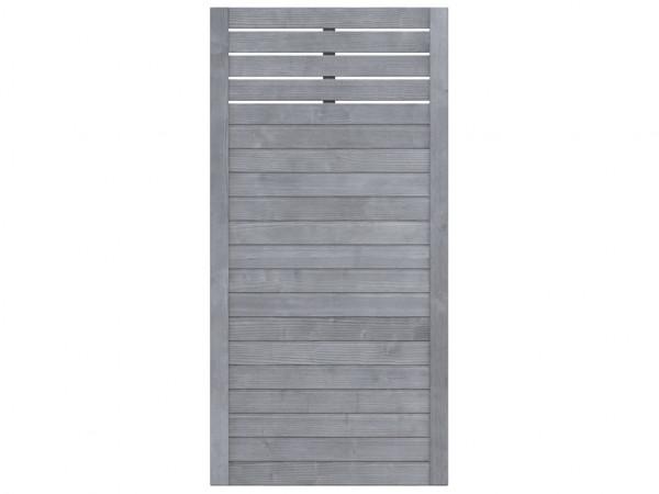 Sichtschutzzaun NEO Design Halbelement mit Gitter grau