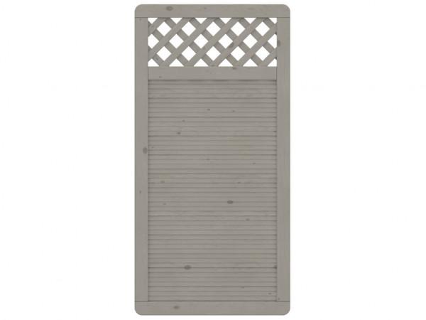 Sichtschutzzaun ARZAGO Halbelement Rechteck mit Gitter grau