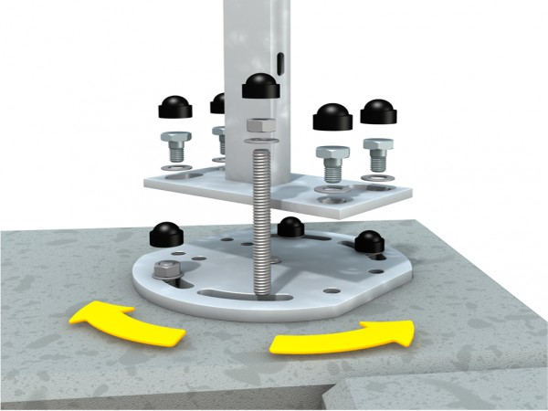 Mauer-Eck-Montageadapter für Aufschraubanker