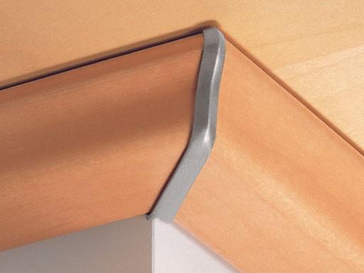 Außenecken für Deckenabschlussleisten DAL 1, Alu-Optik