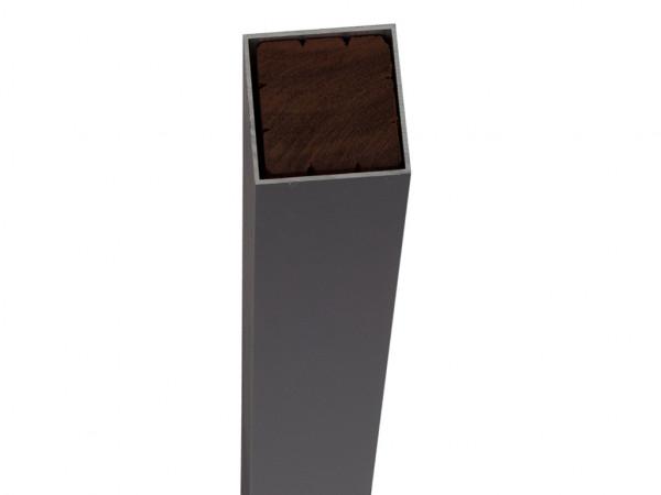 Alupfosten schwarz 190 cm