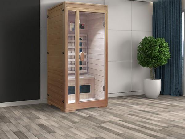 "Infrarot-Wärmekabine Interline Premium ""Hemlock"" Glasvorderwand"