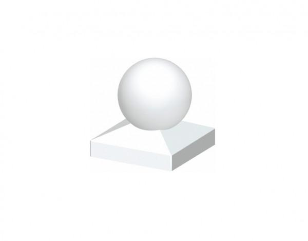 Kugel-Pfostenkappe LONGLIFE weiß