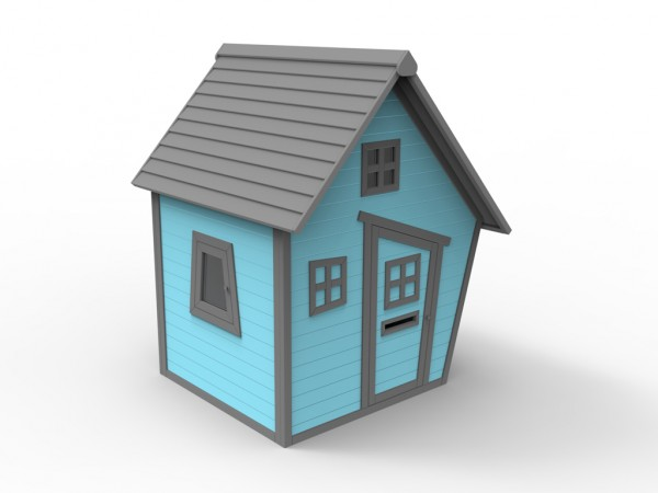 "Spielhaus ""Kakadu"" 10 mm blau"