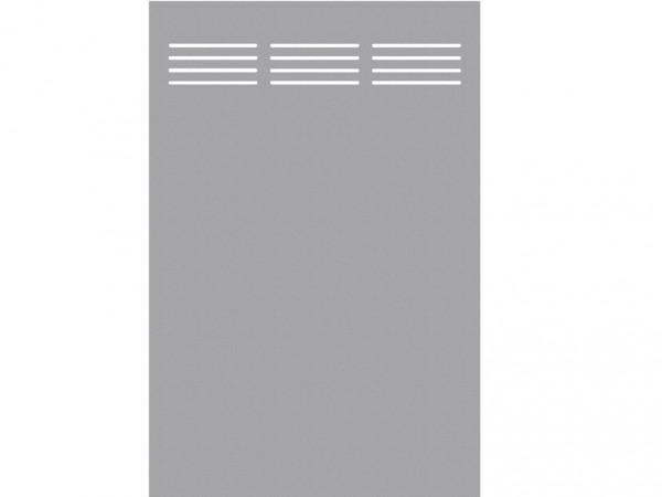 "Sichtschutzelement Slot-Design ""BOARD"" titangrau"