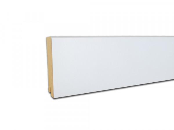 Sockelleiste Vierkant weiß mit Grundierfolie Profil 5913