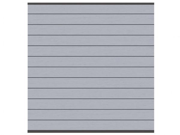 Sichtschutzzaun SYSTEM WPC Zaunfeld-Set Grau/Anthrazit