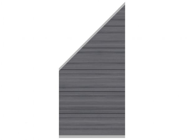 Sichtschutzzaun SYSTEM WPC Platinum XL Zaun-Anschluss-Set Abschlusselement Grau
