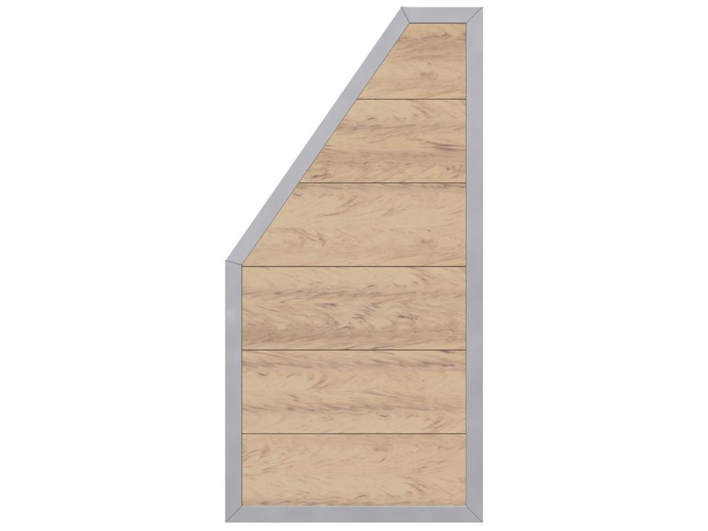 Sichtschutzzaun Abschlusselement Design Wpc Alu Sand