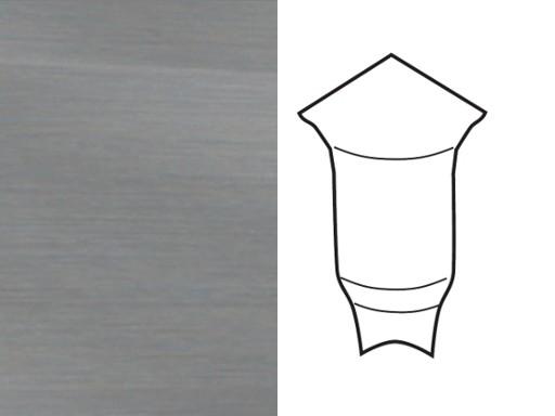 Innenecken für Sockelleiste Profil 1 1K 1 MK Edelstahl Optik