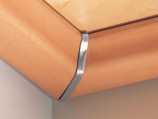 Innenecken für Deckenabschlussleisten DAL 1, Alu-Optik