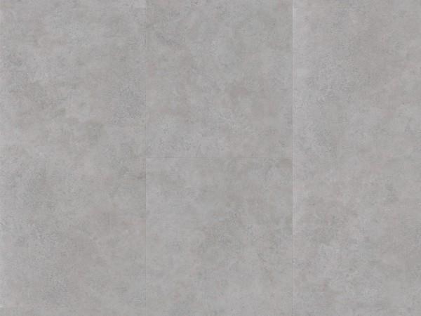 Vinylboden Basic 2.0 Fliese Beton Grau Steinstruktur