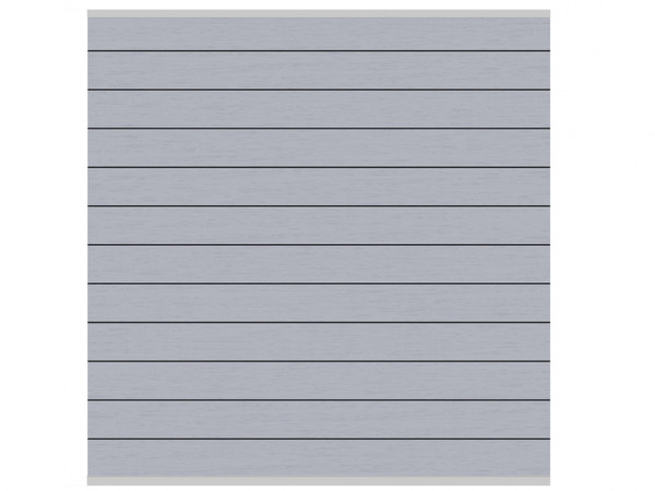Sichtschutzzaun SYSTEM WPC Zaunfeld-Set Grau/Silber
