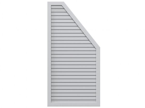 Sichtschutzzaun DESIGN RHOMBUS Abschlusselement Silber