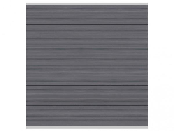 "Sichtschutzzaun ""SYSTEM Platinum XL"" Zaunfeld-Set grau"