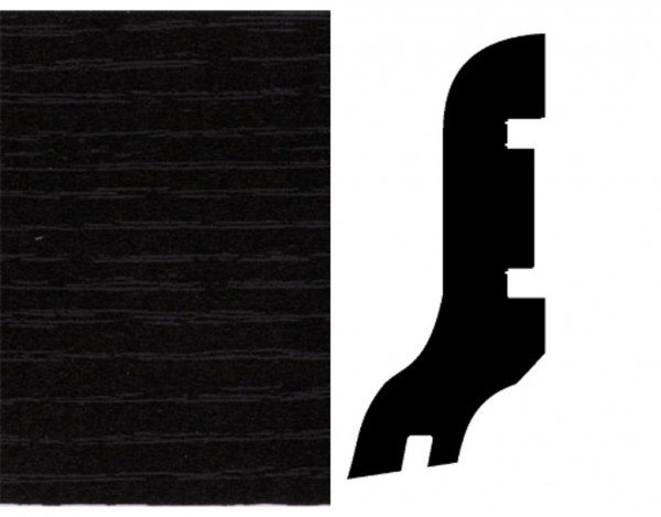 Sockelleiste Esche schwarz Dekor