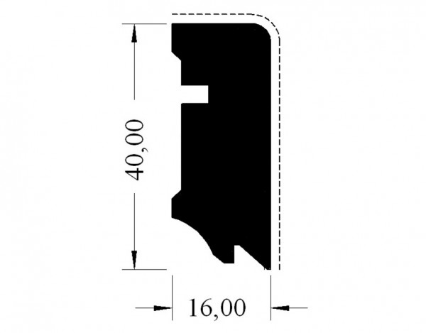 Sockelleiste Cube Eiche lackiert furniert 630