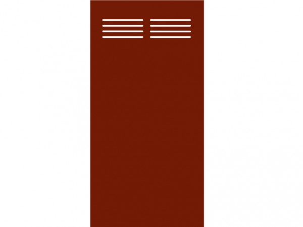 Sichtschutzelement Slot-Design BOARD rot