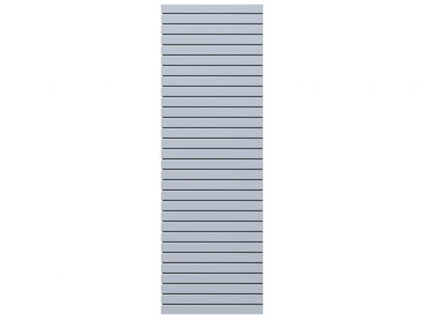 Sichtschutzzaun SYSTEM RHOMBUS Halbelement silber