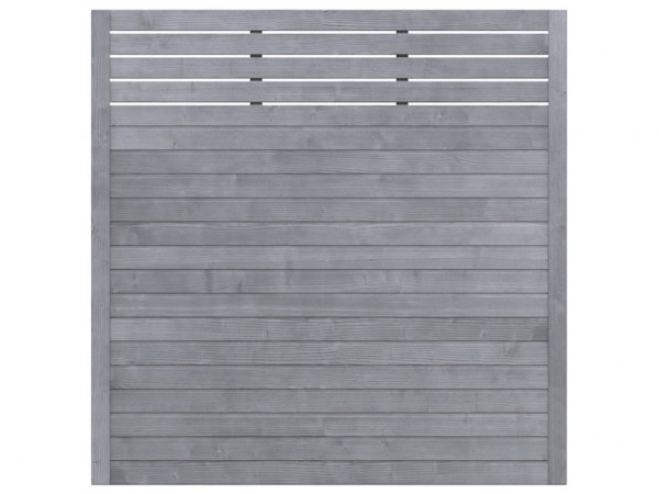 Sichtschutzzaun NEO Design mit Gitter grau
