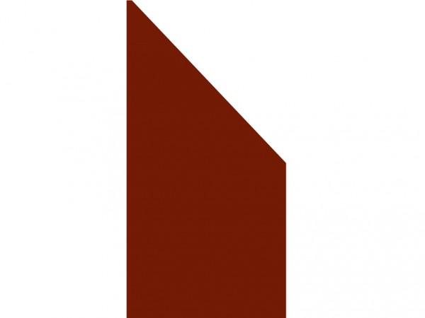 """Anschluss-Sichtschutzelement """"BOARD"""" rot"""