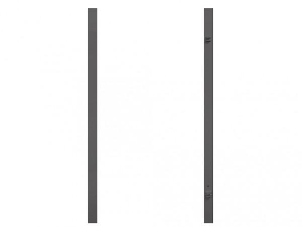 Torpfosten Einzeltor (2er-Set), Metall, anthrazit