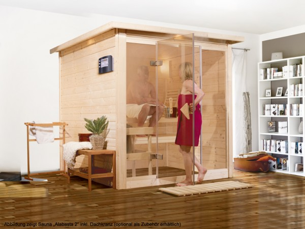"Sauna Aktionssauna Premiumsauna Massivholzsauna ""Alabasta 2"""