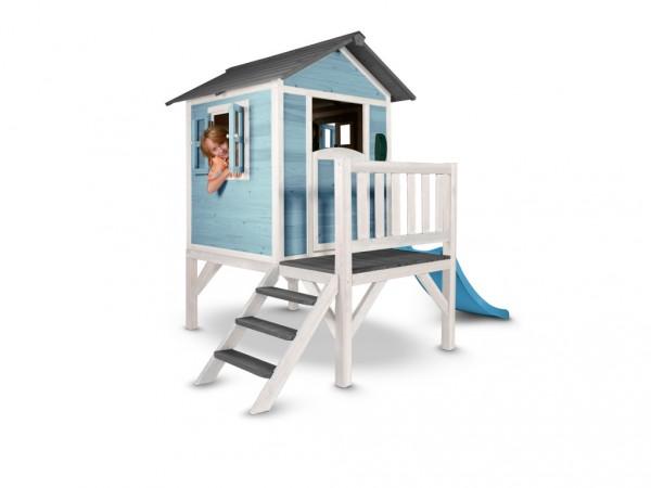 "Kinderspielhaus ""Lodge XL"" blau/weiß, Massivholz"