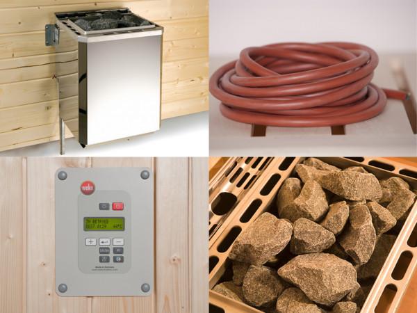 Saunaofen Set 5 mit 7,5 kW Bio-Ofen inkl. externer Steuerung