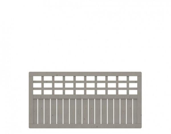Sichtschutzzaun COMO Rechteck mit Gitter grau
