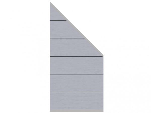 Sichtschutzzaun SYSTEM WPC XL Zaun-Anschluss-Set Abschlusselement Grau