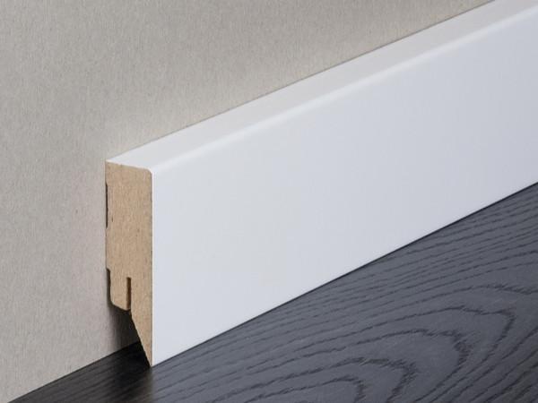 Sockelleiste Vierkant weiß lackiert