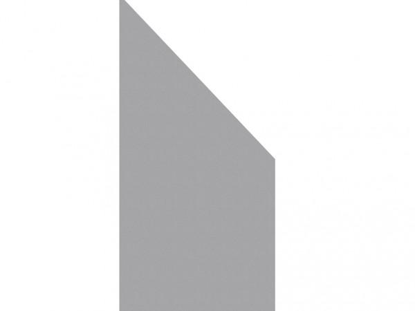 Anschluss-Sichtschutzelement BOARD titangrau