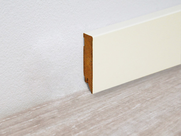 Vierkant Sockelleiste Weiß streichfähig