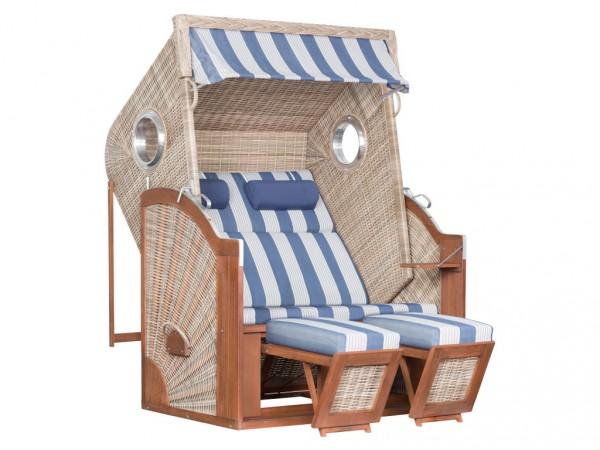 "Strandkorb ""Trendy Pure Cliff XL Sun"" seashell Design 434 mit Bullaugen"