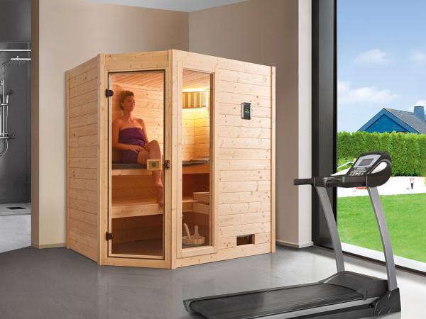 WE-Sauna SPARSET Valida Eck 1 GTF + 7,5kW Ofen