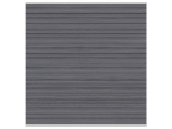 Sichtschutzzaun SYSTEM WPC Platinum Zaunfeld-Set Grau
